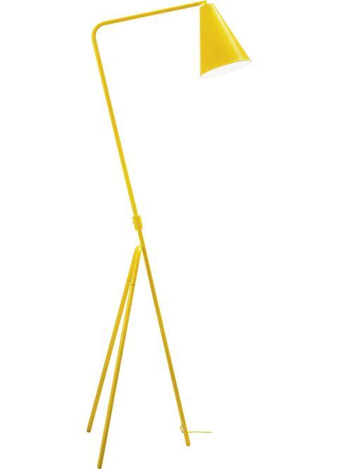 Lámpara de pie amarilla estilo retro