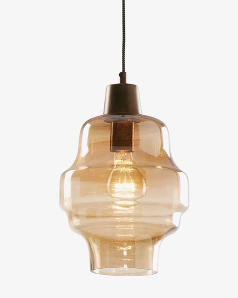 lámpara de techo covell de cristal tintado