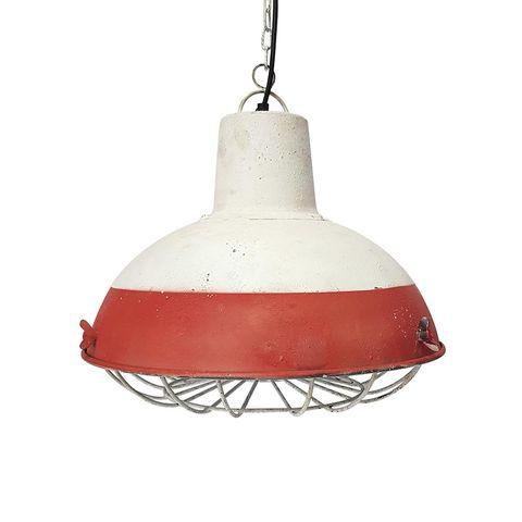 lámpara de techo de metal bicolor, estilo naútico