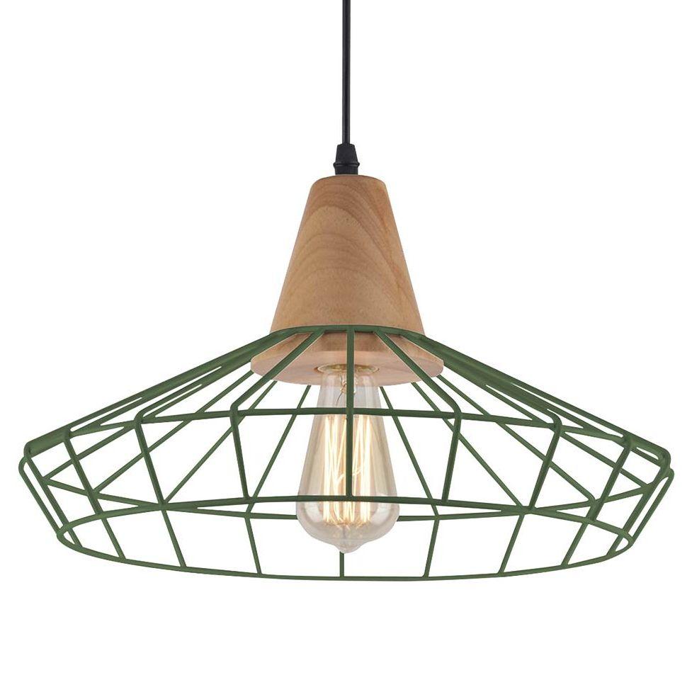Lámpara de varillas verde