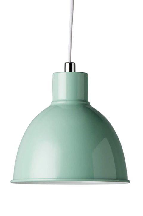lámpara de techo foco de metal verde