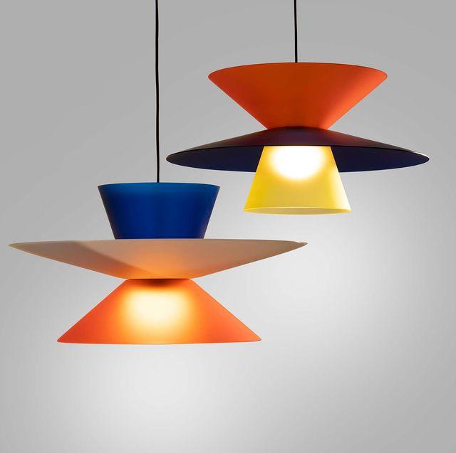 lámparas de techo coloridas