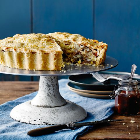 Vegetarian Cheese, Pear and Walnut Pie