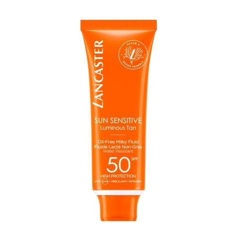 lancaster oilfree milky fluid spf50 zonbescherming zonnebrand