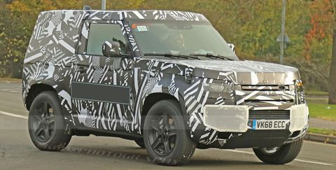 2020 Land Rover Discovery Is Built On The New Architecture >> 2020 Land Rover Defender Spy Shots New Land Rover Suv Pictures
