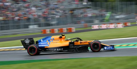 Lando Norris of McLaren F1 Team on the track during practice...