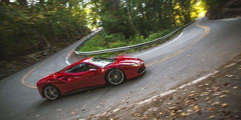 Land vehicle, Vehicle, Car, Supercar, Automotive design, Ferrari 458, Luxury vehicle, Red, Coupé, Sports car,