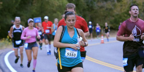 Blue, People, Recreation, Endurance sports, Social group, Quadrathlon, Running, Photograph, Sleeveless shirt, Red,