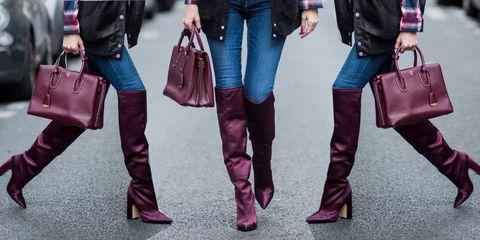 Jeans, Pink, Street fashion, Clothing, Red, Denim, Footwear, Fashion, Magenta, Leather,