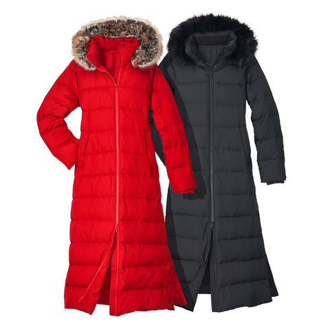 Clothing, Outerwear, Hood, Fur, Jacket, Coat, Sleeve, Red, Parka, Fur clothing,