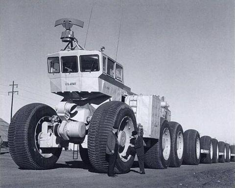 LeTourneau Land Train once crushed the earth beneath its 54 wheels