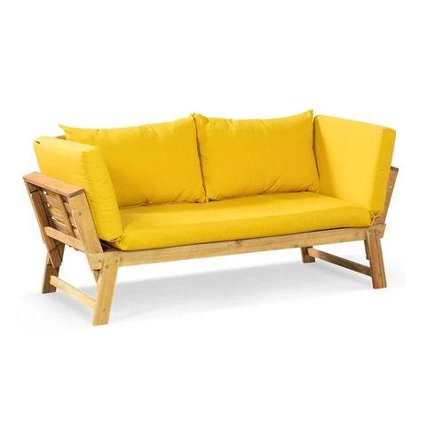 lanterfant® tuinbank liv  chaise longue – ligbed – teak oil oker