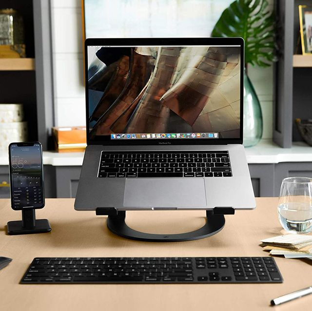 macbook on twelve south laptop stand