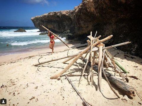 Beach, Wood, Sky, Sea, Tropics, Vacation, Ocean, Tree, Summer, Cloud,