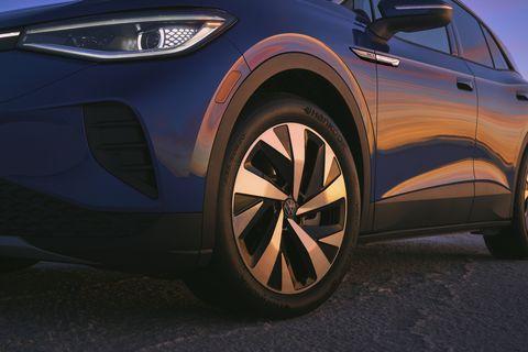 volkswagen vw in blue with hankook tires