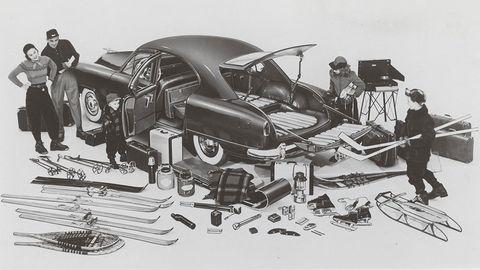 1951 kaiser traveler sedan utility ad