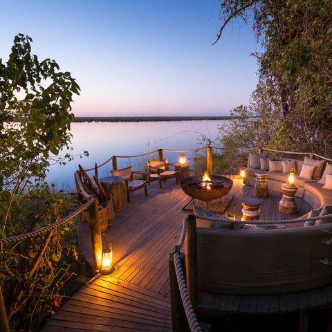 Sky, Property, Lighting, Tree, Evening, Real estate, Vacation, Lake, Estate, Landscape,