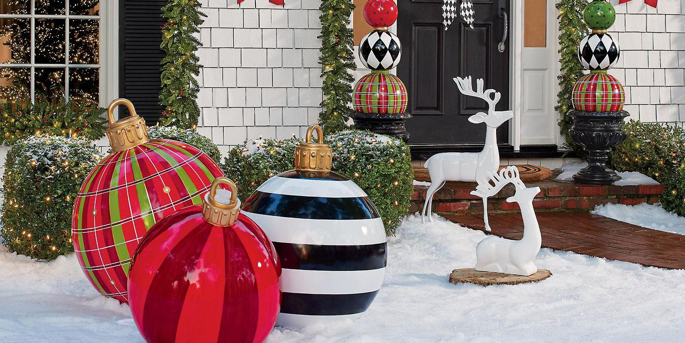 Large Outdoor Christmas Ornaments - Giant Holiday Ornament Decorations