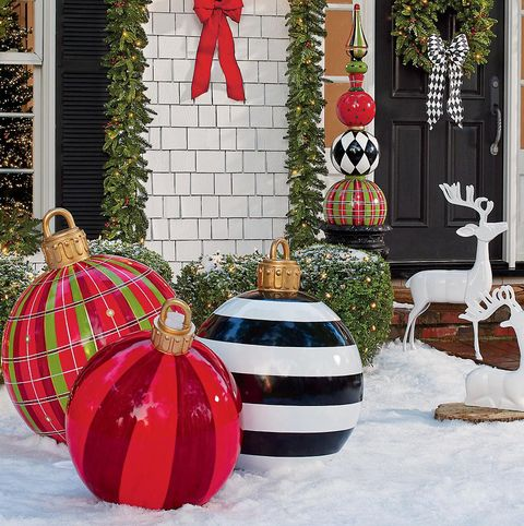 large outdoor christmas ornaments oversized yard holiday ornaments - Large Christmas Decorations