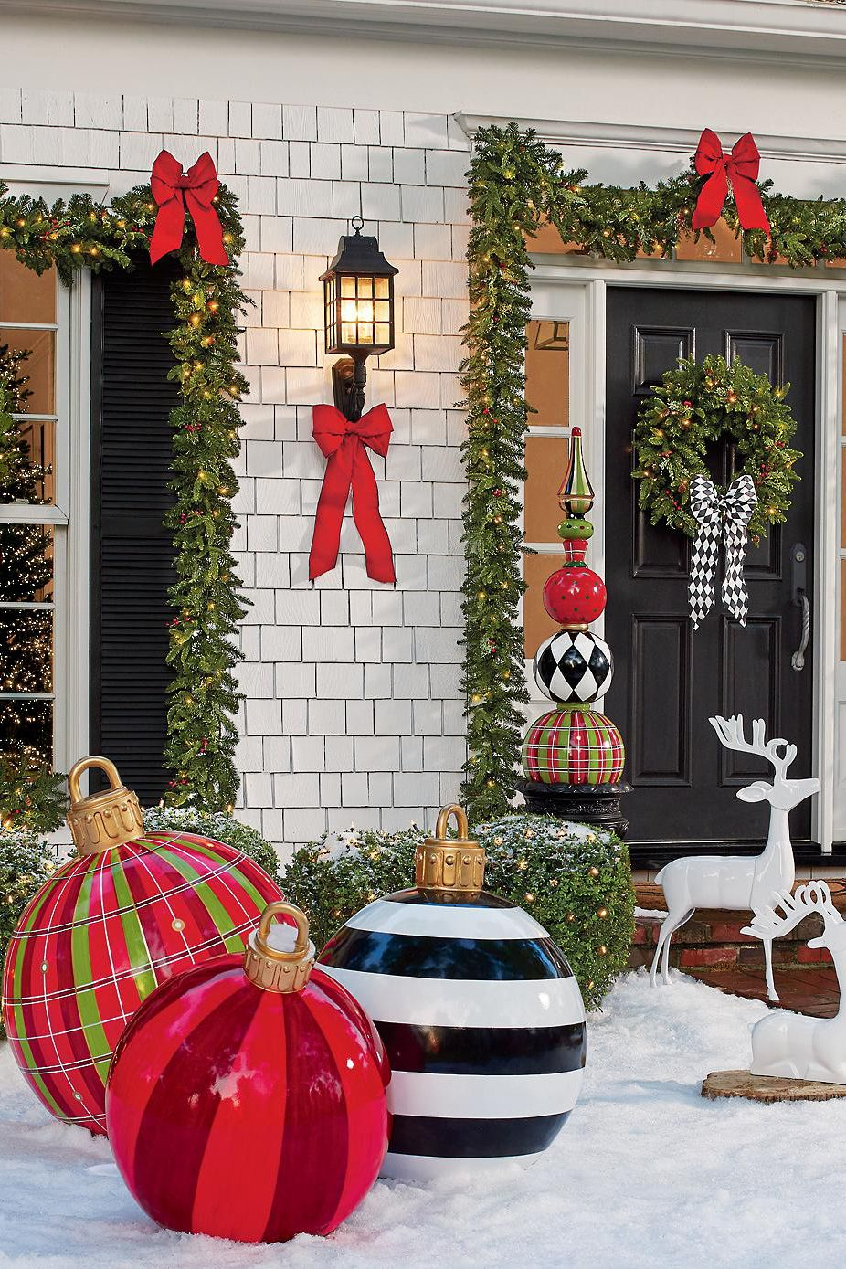 Delightful Large Outdoor Christmas Ornaments   Oversized Yard Holiday Ornaments