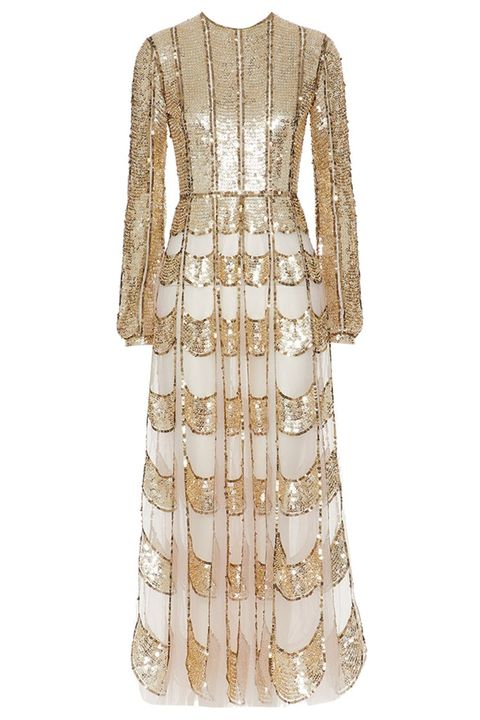 valentino gold gown