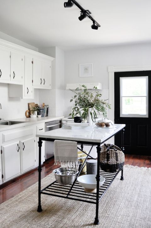 White Kitchen Design Ideas Decorating White Kitchens - Accent color for grey and white kitchen