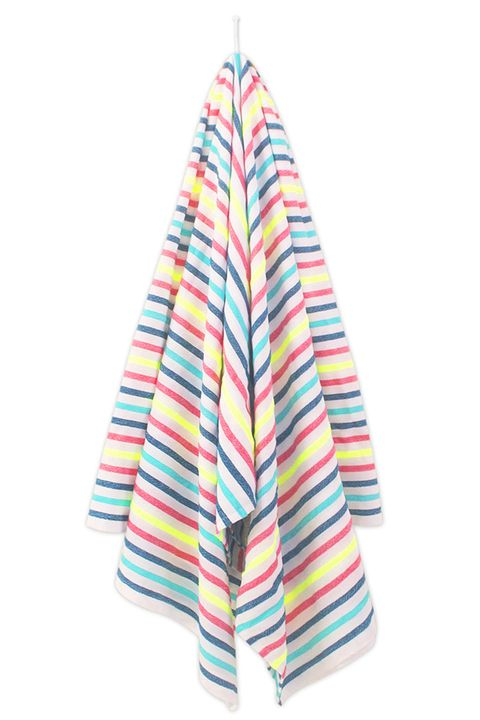 Turquoise, Pink, Aqua, Towel, Linens, Textile,
