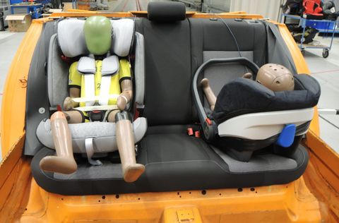crash test sillitas infantiles race