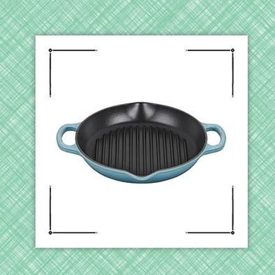 le creuset skillet and coffee maker