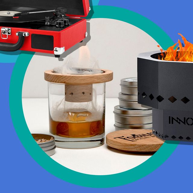allbirds shoes, record player, cocktail kit, smokeless fire pit, feals cbd drops