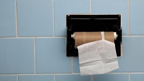 Laatste rol wc-papier