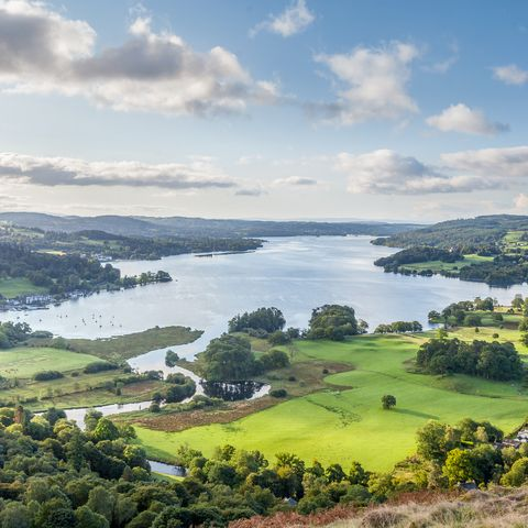 a late summer english lake district view
