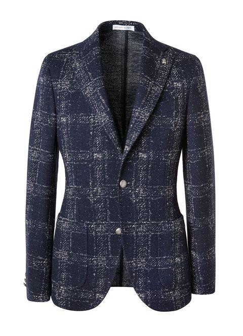 Clothing, Outerwear, Jacket, Blazer, Blue, Sleeve, Suit, Top, Denim, Button,