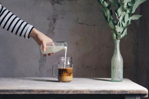 Hand, Drink, Table, Liqueur, Mason jar, Still life photography,