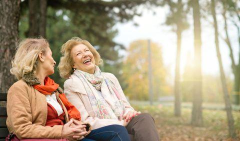 Laughing seniors.