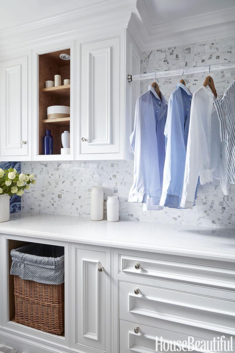 15 small laundry room ideas small laundry room storage tips rh housebeautiful com