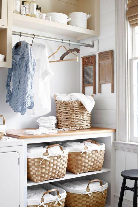 laundry room ideas baskets