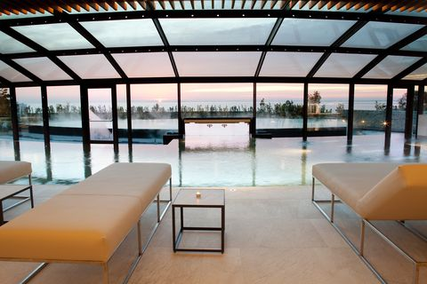 Architecture, Building, Furniture, Interior design, Table, Room, House, Shade, Floor, Leisure,