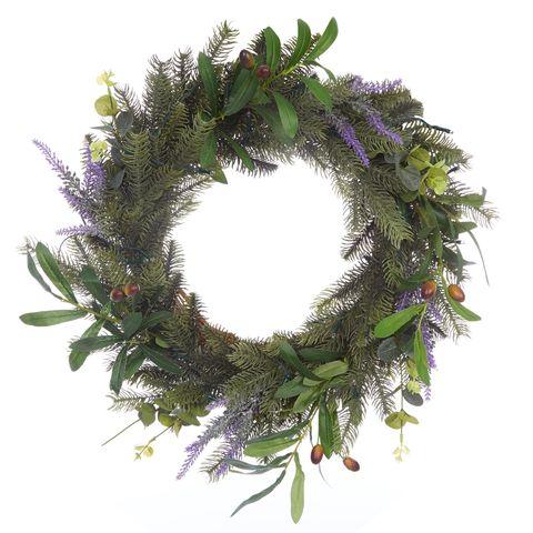 Laura Ashley- Foliage Lit Wreath - Christmas Wreath