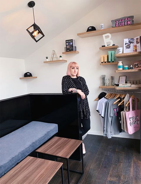 Laura Callan founder of veganBright Zine and vegan Bright Store, London