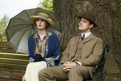 "Laura Carmichael es Lady Edith en ""Downton Abbey"""