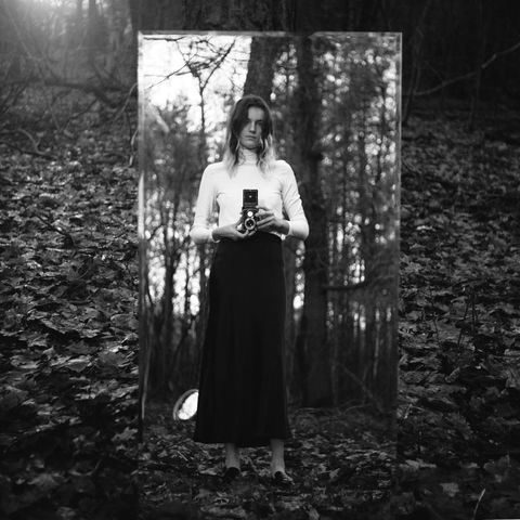 Photograph, Black, White, Black-and-white, Tree, Monochrome photography, Natural environment, Standing, Dress, Beauty,