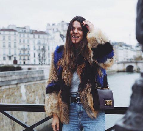 Fur, Street fashion, Clothing, Fashion, Jeans, Beauty, Cobalt blue, Textile, Fur clothing, Jacket,