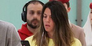Laura Matamoros en el aeropuerto