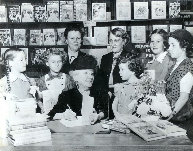 laura ingalls wilder signing little house on the prairie books