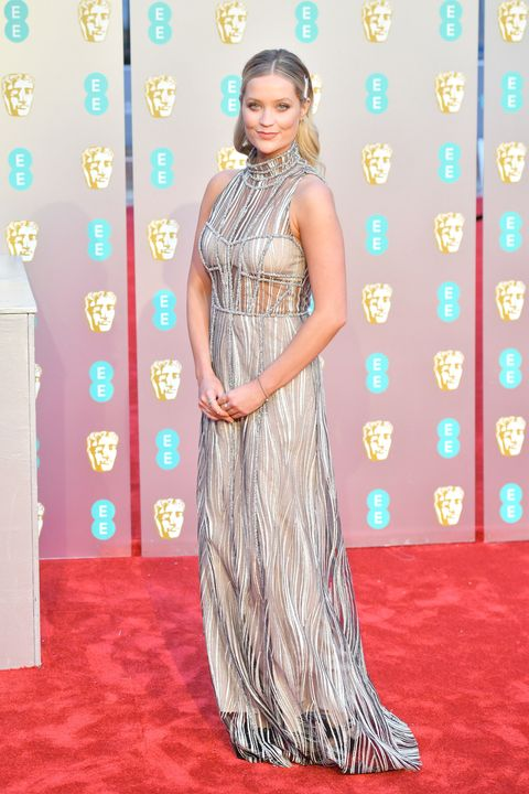 Laura Whitmore,EE British Academy Film Awards - Red Carpet Arrivals