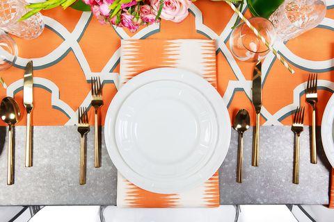 Orange, Table, Furniture, Plant, Cutlery, Tableware,