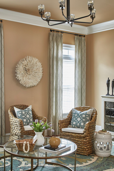 soft blonde paint color in living room