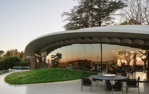 Designed by John Lautner this mid-century home is an architectural vision of the future