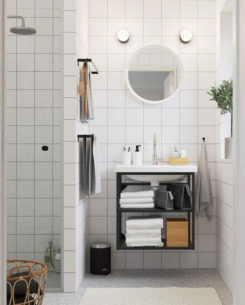 lavabo con mueble abierto enhet  tvÄllen